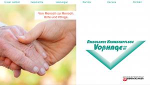 Voßhage: Startseite und Logo